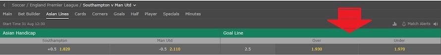 asian goal line