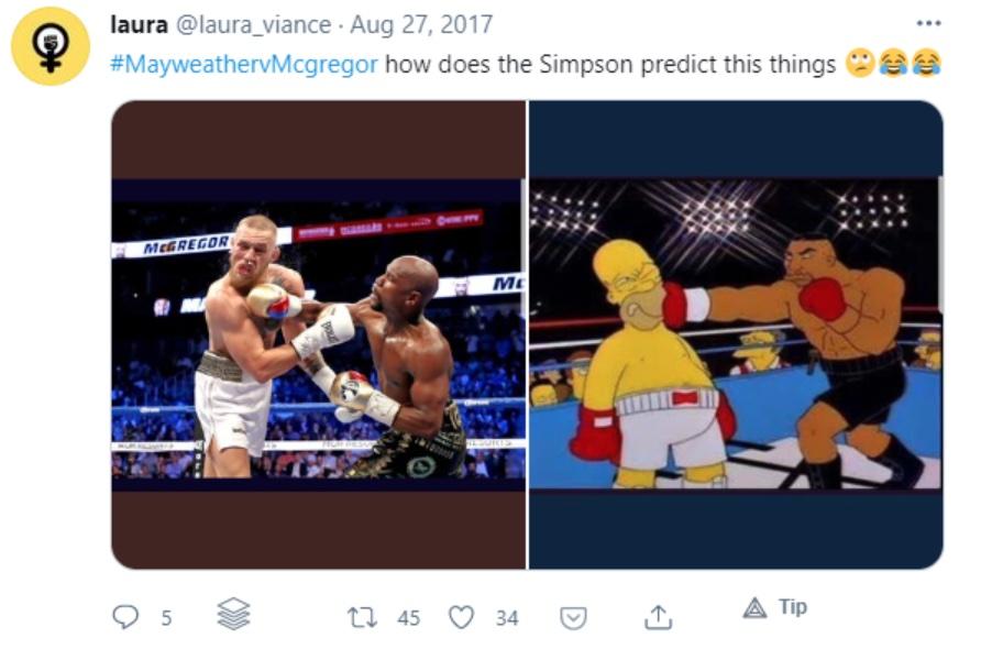 Mayweather VS Mcgregor Simpson meme